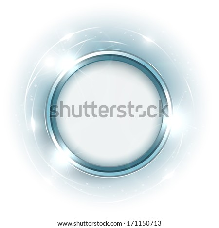 Abstract shiny blue banner with copyspace - eps10 - stock vector
