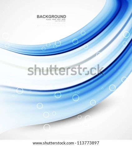 abstract shiny blue technology stylish wave vector design - stock vector