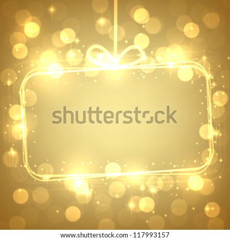 Abstract shiny christmas background. Vector eps10. - stock vector