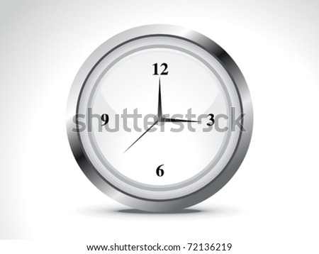 abstract shiny clock icon vector illustration - stock vector