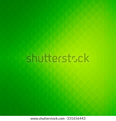 Abstract shiny geometric background with green color tones - stock vector