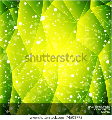 Abstract shiny green background - stock vector