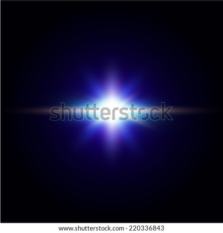 Abstract shiny star. Vector background. - stock vector