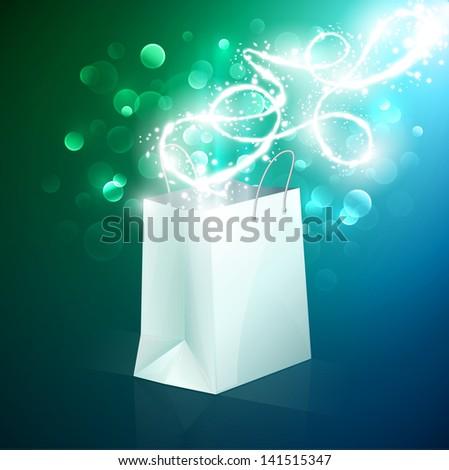 Abstract shopping bag design - eps10 - stock vector