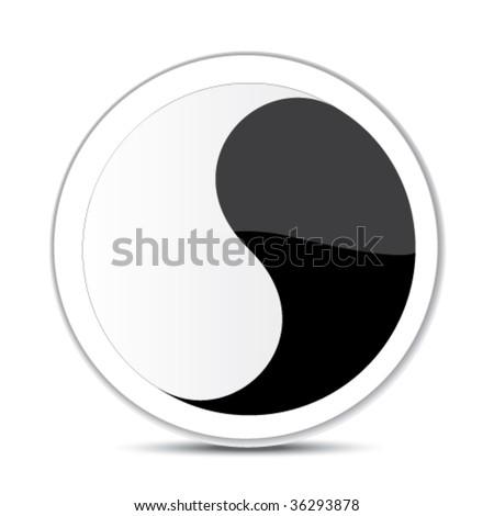 abstract sign - yin yang - stock vector