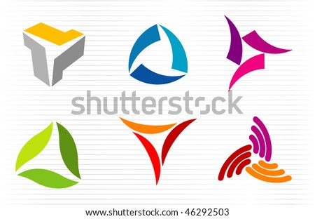 Abstract signs. Vector icons set. - stock vector