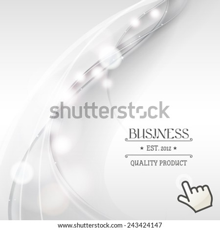 Abstract silver and white vector background. Mesh used. - stock vector