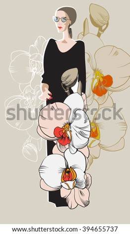 Abstract sketch of a model in floral 