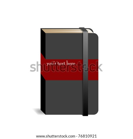 Abstract sketchbook with stripes and space for text - stock vector