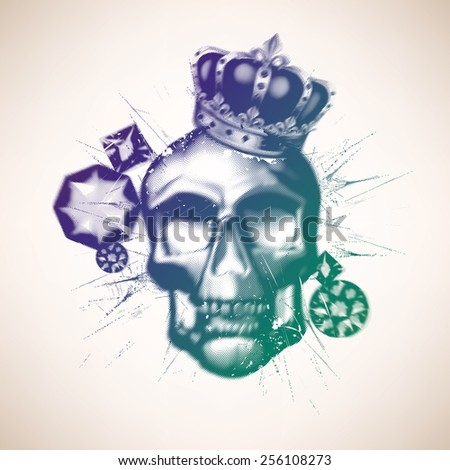 Abstract skill with diamonds - stock vector