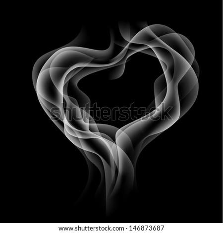 abstract smoke heart symbol - stock vector