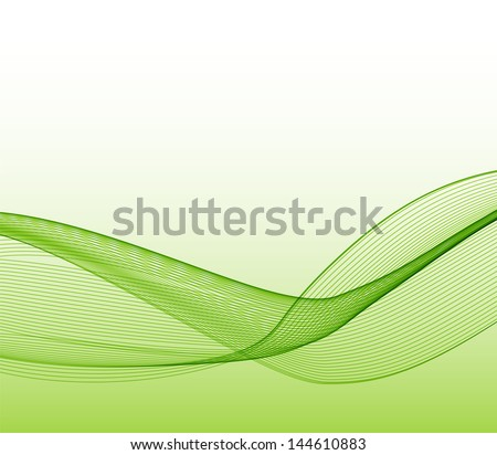 Abstract  smoke wave background - stock vector
