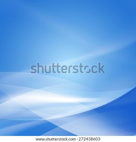 Abstract smooth blue flow background, Vector illustration  - stock vector