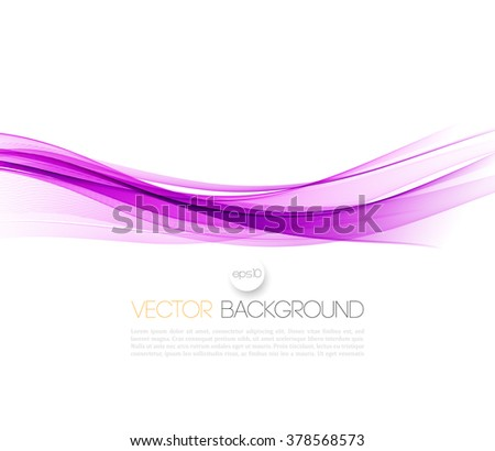 Abstract smooth color wave vector. Curve flow purple motion illustration - stock vector
