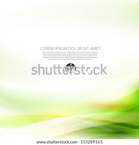 Abstract smooth green flow background, Vector illustration  - stock vector