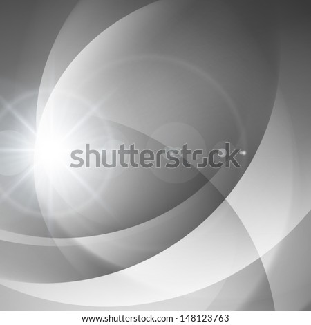 Abstract smooth silver light lines vector background eps 10 - stock vector