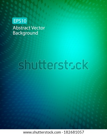 Abstract Smooth Soft Focus Blue Green Dot Swirl Background Design I EPS10  - stock vector