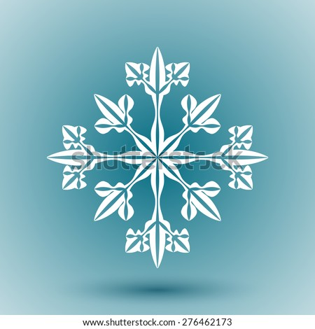 Abstract snowflake for Christmas greeting cards, advertising and other creative designs. Editable vector with several layers. Eps 10 - stock vector