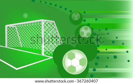 Abstract soccer background. - stock vector