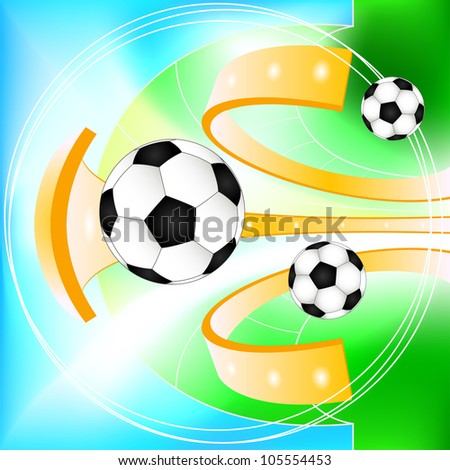 Abstract soccer ball  background - stock vector