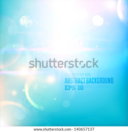 Abstract soft background for design. Summer sky. - stock vector