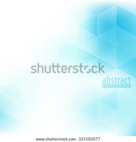 Abstract soft background with bright blue triangles on a white. Vector graphic pattern - stock vector