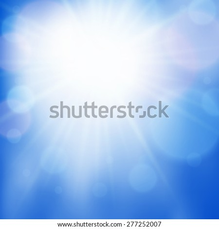 Abstract soft blurred bokeh effect background. Vector illustration - stock vector