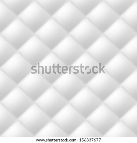 Abstract soft textured background with squares in white. Close-up view.  - stock vector