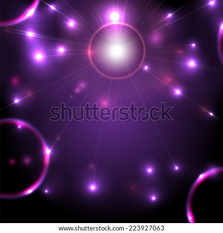 Abstract space background flickering - stock vector