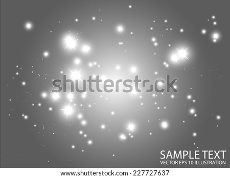 Abstract space flares background template - Shiny glitters design background  illustration - stock vector