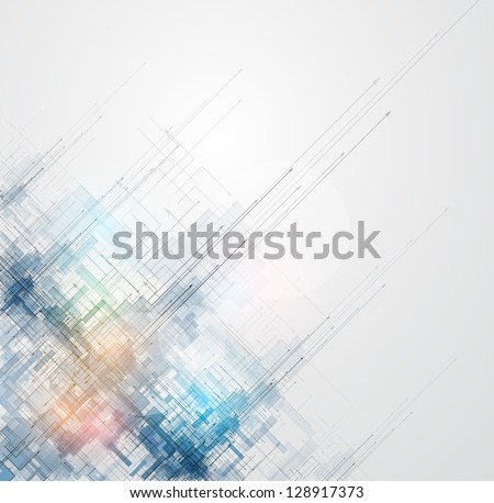 abstract space ray circuit cyber high technology business background - stock vector