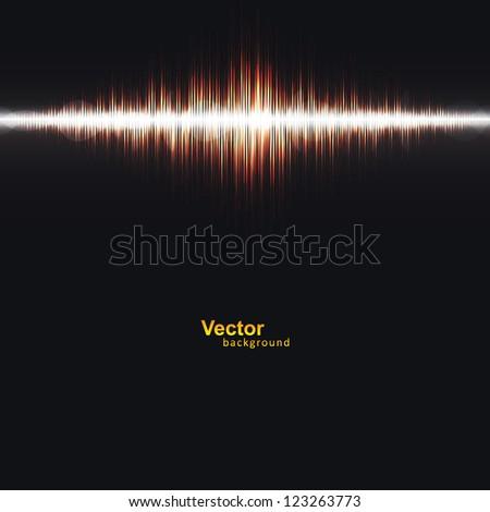 Abstract Speaker Sound - stock vector