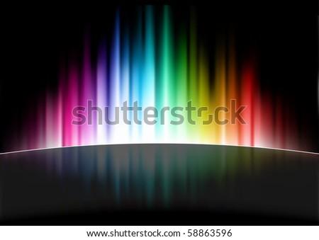 Abstract Spectrum Background Original Illustration - stock vector