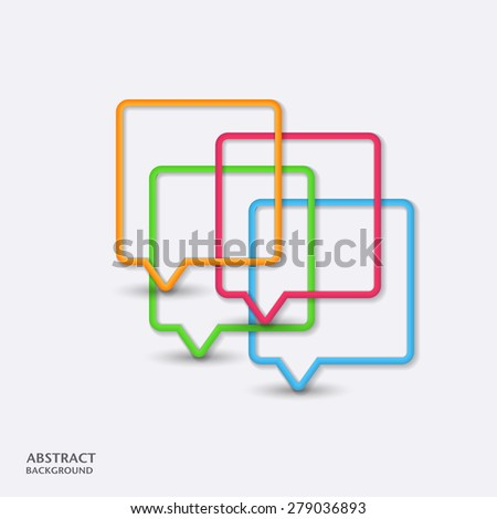 Abstract speech bubble background. Vector - stock vector