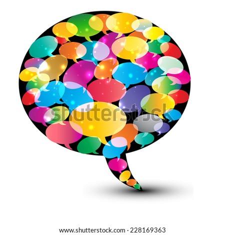 Abstract speech bubble illustration - stock vector