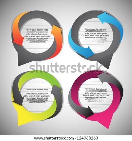 abstract speech bubbles - stock vector