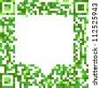 Abstract speech cloud of qr-code - stock vector