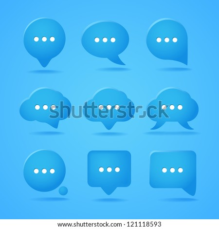 Abstract speech clouds. Ready for a text - stock vector