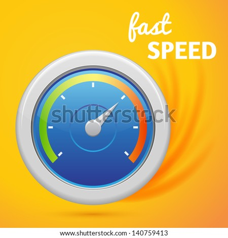 abstract speedometer with inscription - stock vector