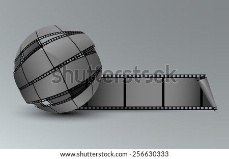Abstract Sphere From Blank Film Strip - stock vector