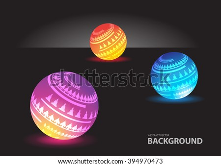 Abstract spheres background vector - stock vector