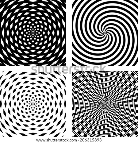 Abstract spiral background set. Vector illustration.  - stock vector