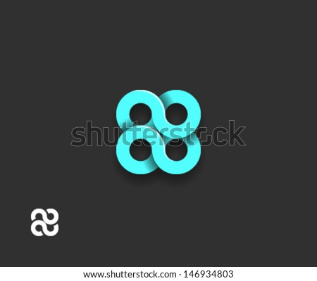 Abstract spiral element - stock vector