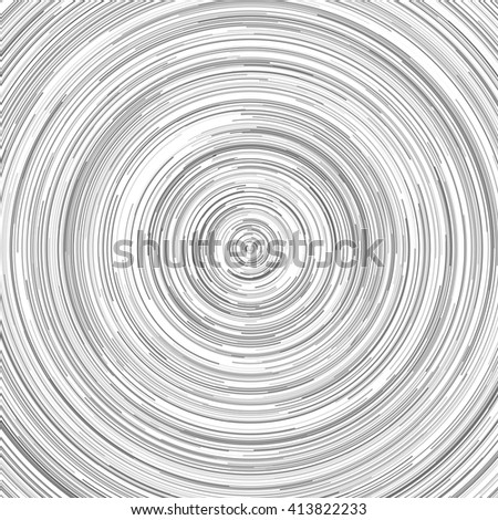 Abstract spiral element. Swirl, twirl, rotating shape. Black and white vector illustration. - stock vector