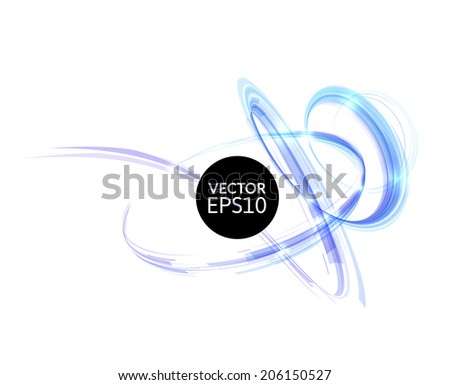 Abstract spiral on isolated on white background illustration from ribbon composition, use for artwork party flyers and business presentation posters - stock vector
