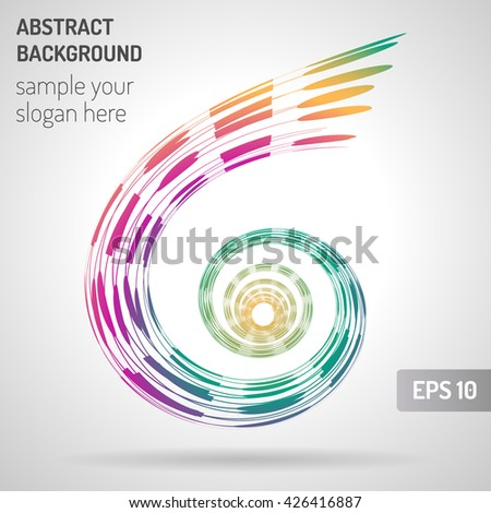 Abstract Spiral on White Background. Design Element for Graphic Design. Party Flyers. Business Presentation. Posters. Vector Illustration - stock vector