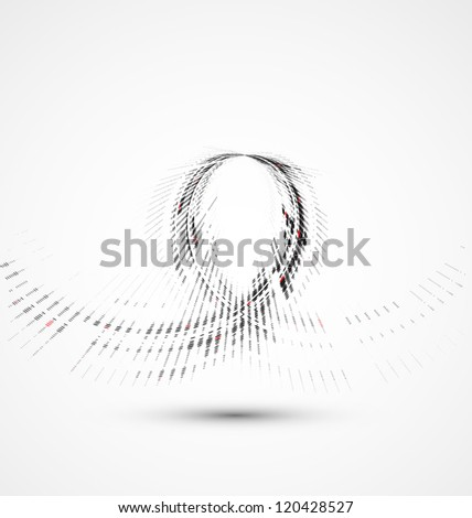 Abstract spiral technology dynamic fade background - stock vector
