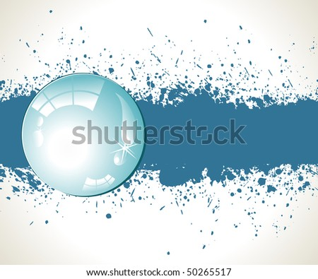 Abstract splashes background. Vector illustration in blue color. - stock vector