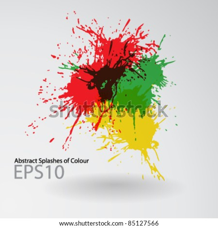 Abstract splashes of colour - stock vector