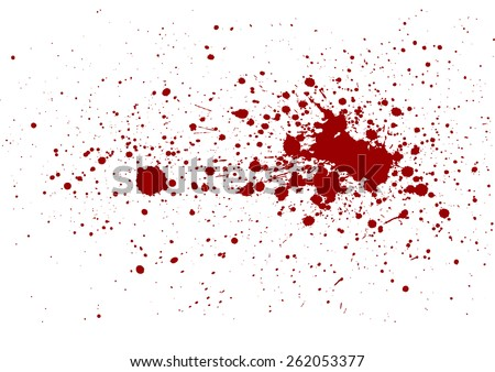 abstract splatter red color isolate - stock vector